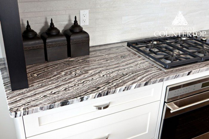 This Maui Granite countertop is full of character