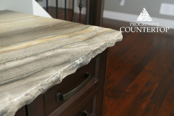6_Chiseled_Edge_Adds_Character_Sequoia_Brown_Leather_Granite - Progressive Countertop - London and Strathroy Ontario