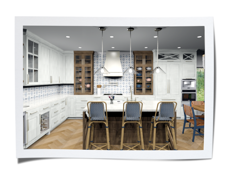 CAD rendering of Kitchen Design by Danielle Heath, Progressive Countertop