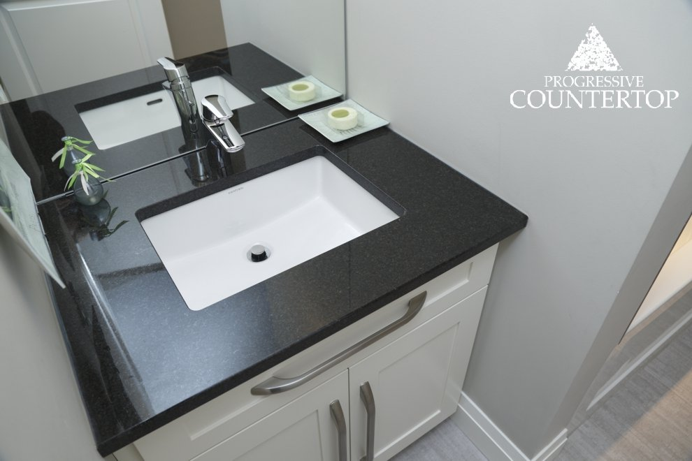 Black bathroom vanity by progressive countertop black for Bathroom decor london ontario