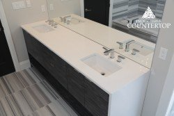 Beautiful white bathroom vanity with double sink and for Bathroom decor london ontario