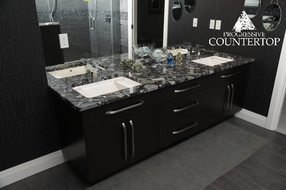 Dream home in london ontario featuring black mosaic for Bathroom decor london ontario