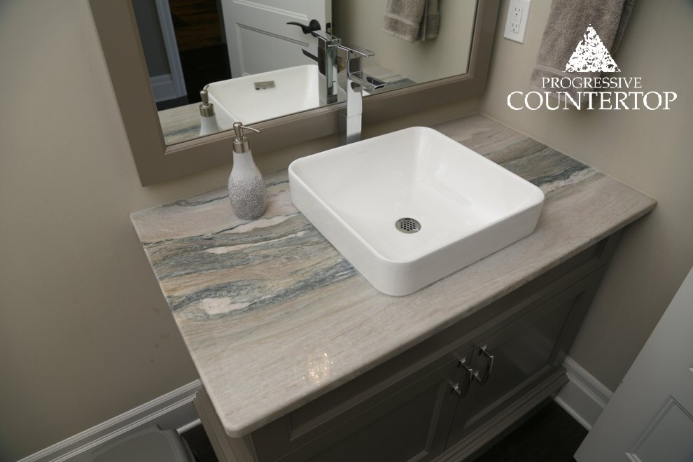 Bathroom vanity by progressive countertop with aquarella for Bathroom decor london ontario