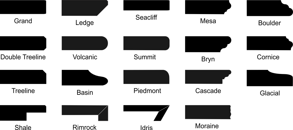 Cambria Countertop Edge Profiles