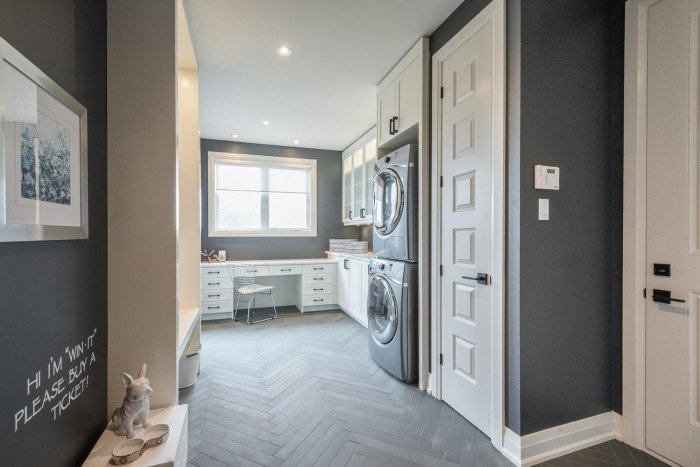 Mud room laundry room combination space in Dream Lottery Home London Ontario