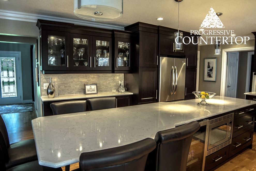 kitchen countertops quartz with dark cabinets. This Modern And Sophisticated Kitchen Space Showcases The Versatility Of Cambria Quartz Torquay Design - Countertops With Dark Cabinets G