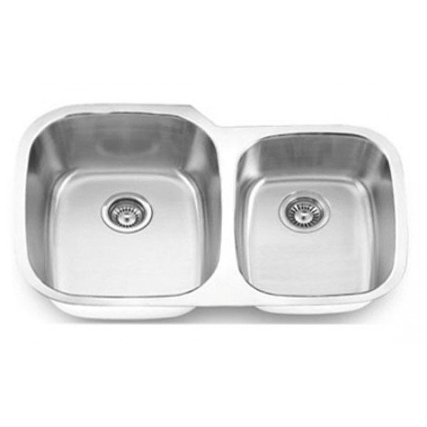 Bristol B803 Stainless Steel Undermount Equal Double Bowl