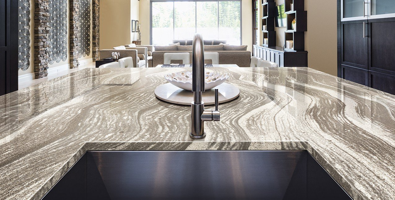 Oakmoor Cambria countertop with sink
