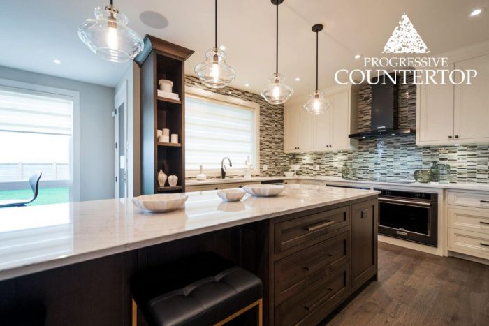 2015 Dream Lottery Home – Whitehall and Ella by Cambria Quartz – Custom Kitchen Design with Island