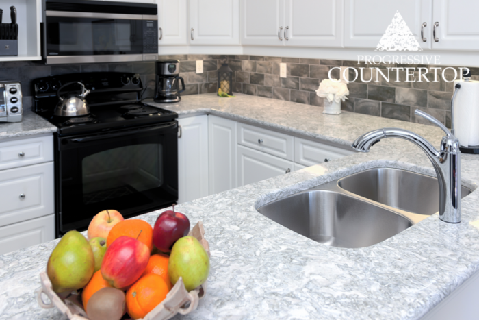 Cambria® Berwyn™ Kitchen Quartz Countertop in U Shaped Kitchen