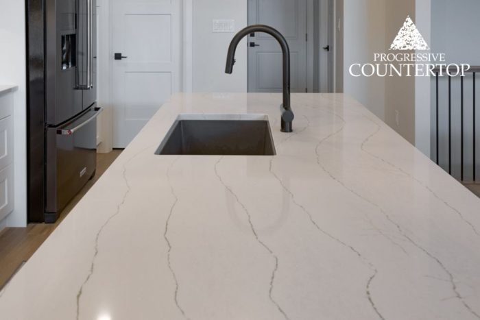 Cambria Ella Quartz Countertop (White and Grey)