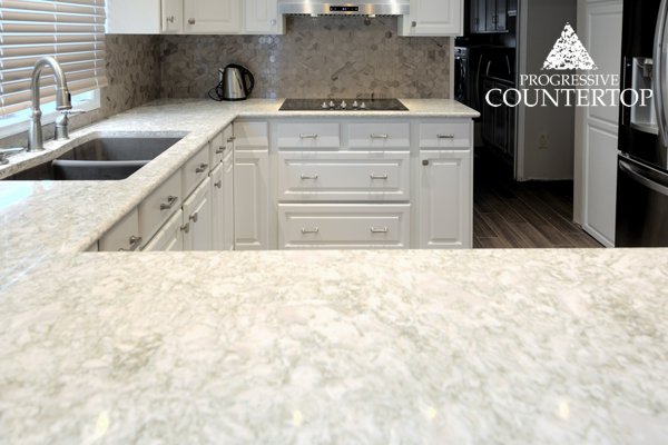 Cambria® Crowndale ™ Quartz Kitchen Countertop U Shaped Kitchen