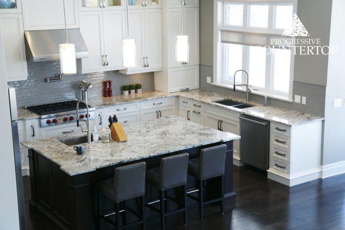 Alaska White Granite Kitchen Countertop Grey and Brown