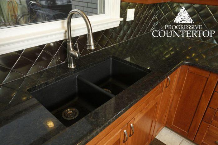 Suede Brown Granite Kitchen Countertop Grey