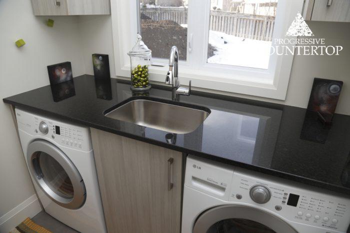 Black Pearl Granite Laundry room Black