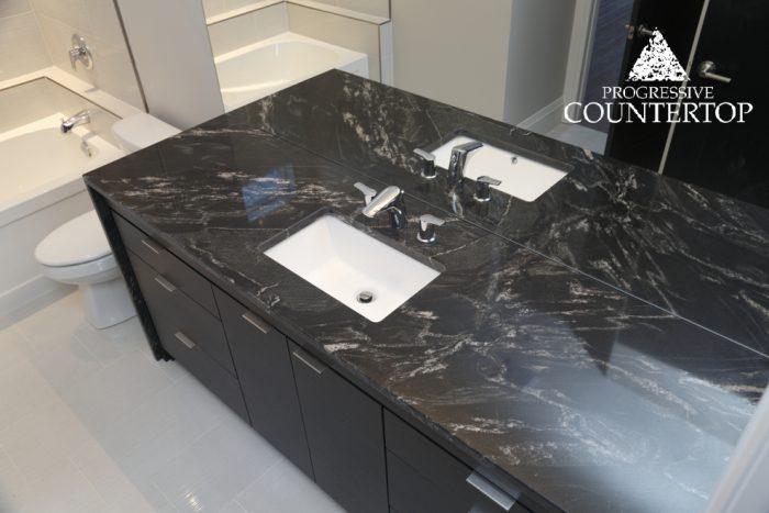 Blackberry Granite Countertop Bathroom Grey