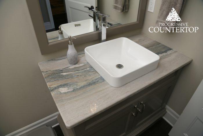 Aquarella Granite Countertop Bathroom Grey