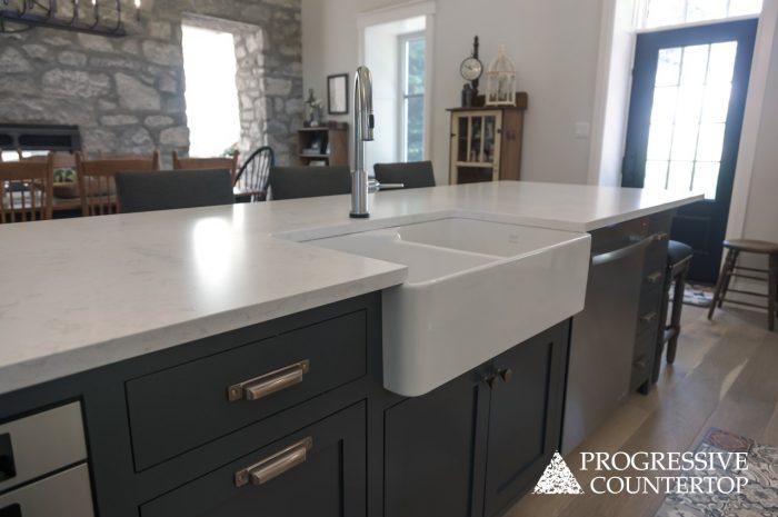 Cambria Quartz Kitchen Countertops - Torquay Matte Finish